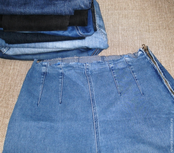 82ee89a302558 Пошить юбку на девочку из старых джинсов. Юбка из старых джинсов своими  руками: выкройки с фото.